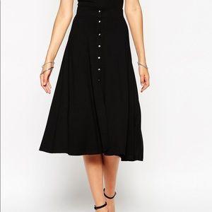 ASOS A-Line Snap Button Skirt
